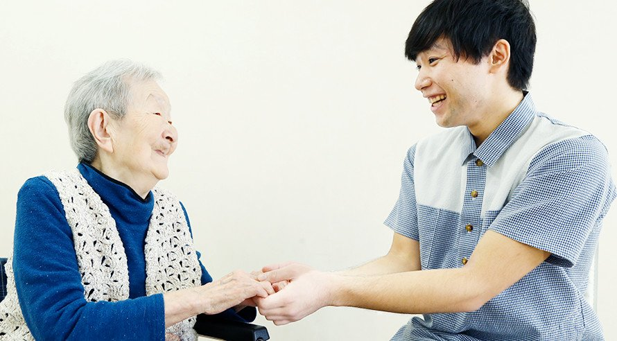 特養 介護職員 永山 光とマイライフ徳丸利用者 林 トシエ